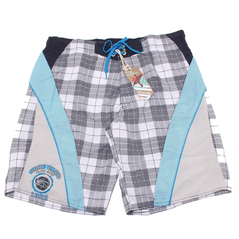 BlauSIDE 7309P costume boxer bianco-blu  Herren beachwear men
