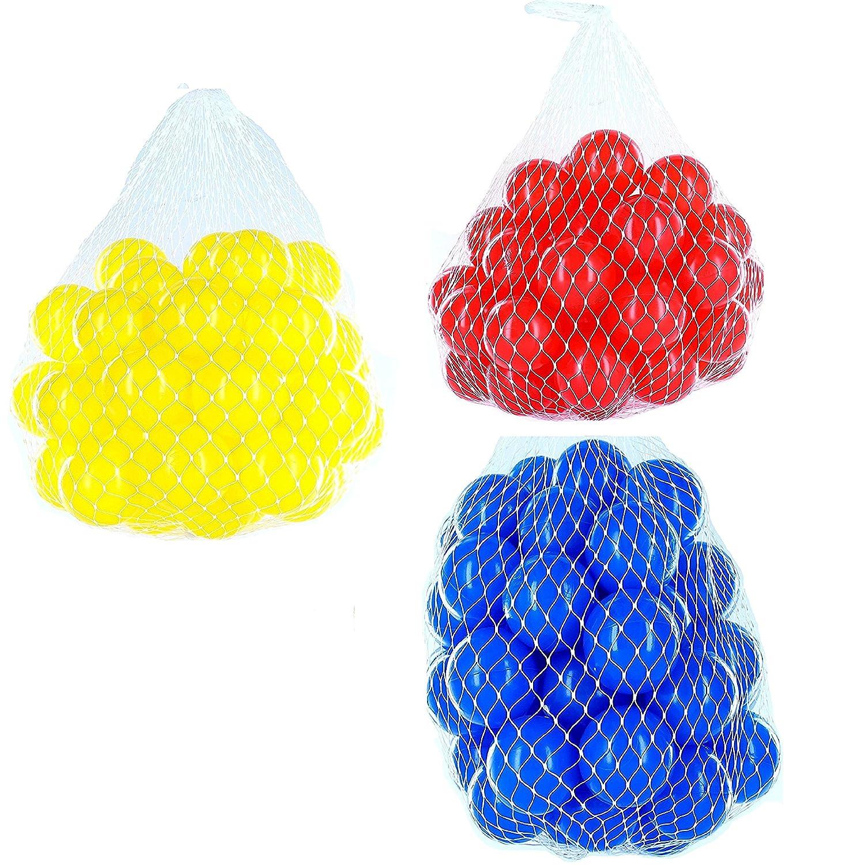 300 Bälle für Bällebad gemischt mix mit blau, rot und gelb B07B2ZD7DR Babybälle Preiszugeständnisse   Ausgezeichnetes Handwerk