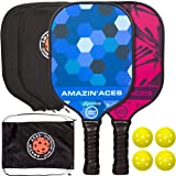 Amazin' Aces Signature Pickleball Paddle Set   USAPA Approved   Graphite Face & Polymer Core   Premium Grip   Includes Paddle
