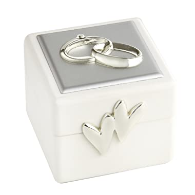 Elegance Wedding Ring Box with Double Rings