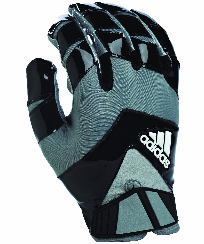 Adidas Crazy Schnelle Fußball Empfänger Handschuhe, schwarz Silber