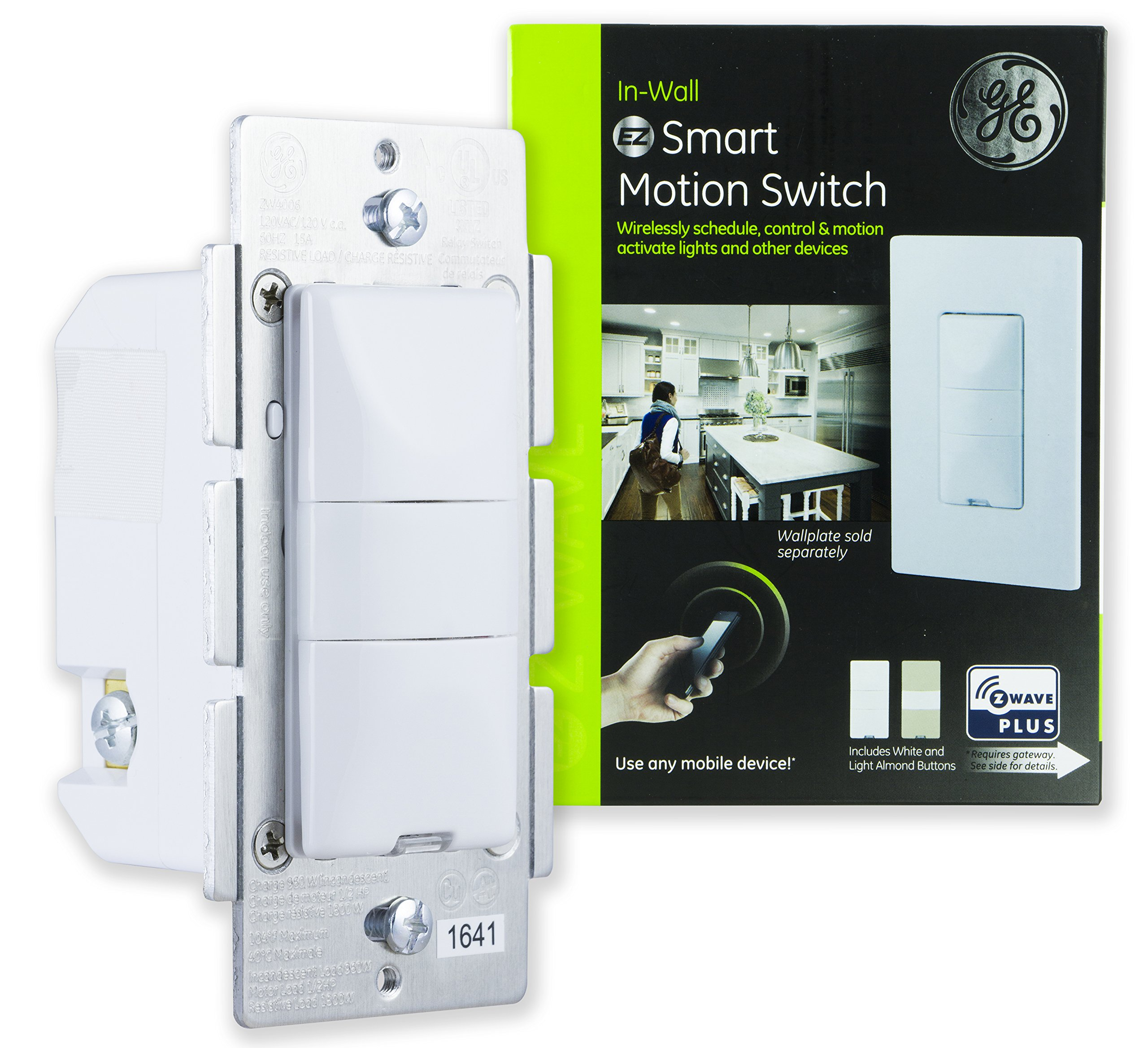 Best Rated In Motion Activated Wall Switches Helpful Customer Merge Existing Single Circuit Into 3way The Garage Ge Z Wave Plus Smart Lighting Control Sensor Switch On Off