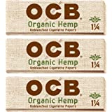 OCB Organic Hemp 1 1/4 Rolling Papers - 3 Packs - 50 Papers Each