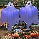 2 unidades de 70 cm de fantasmas colgantes para decoración de Halloween, lindos fantasmas voladores para patio delantero, pat