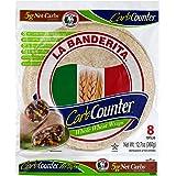 """La Banderita® Carb Counter Whole Wheat   8"""" Flour Tortillas   Keto Friendly   Low Carb   8 Count 12.7oz.   4 Pack Case."""