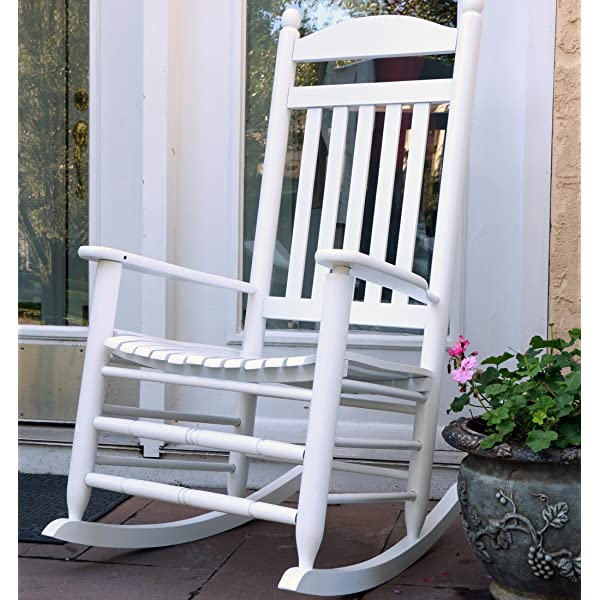 LIFE Home Oliver and Smith - Nashville Collection - Heavy Duty Wooden White Patio Porch Rocker- Rocking Chair - Made in USA - 26