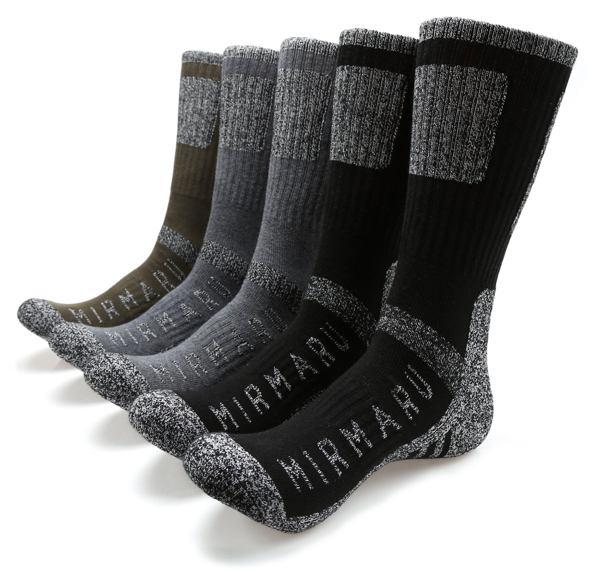 95eb9d7b0 MIRMARU Men's 5 Pairs Multi Performance Outdoor Sports Hiking Trekking Crew  Socks product image