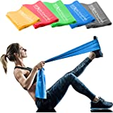 Starktape Resistance Bands Set. 5 Pack Non-Latex Physical Therapy, Professional Elastic Band. Perfect for Home Exercise, Work