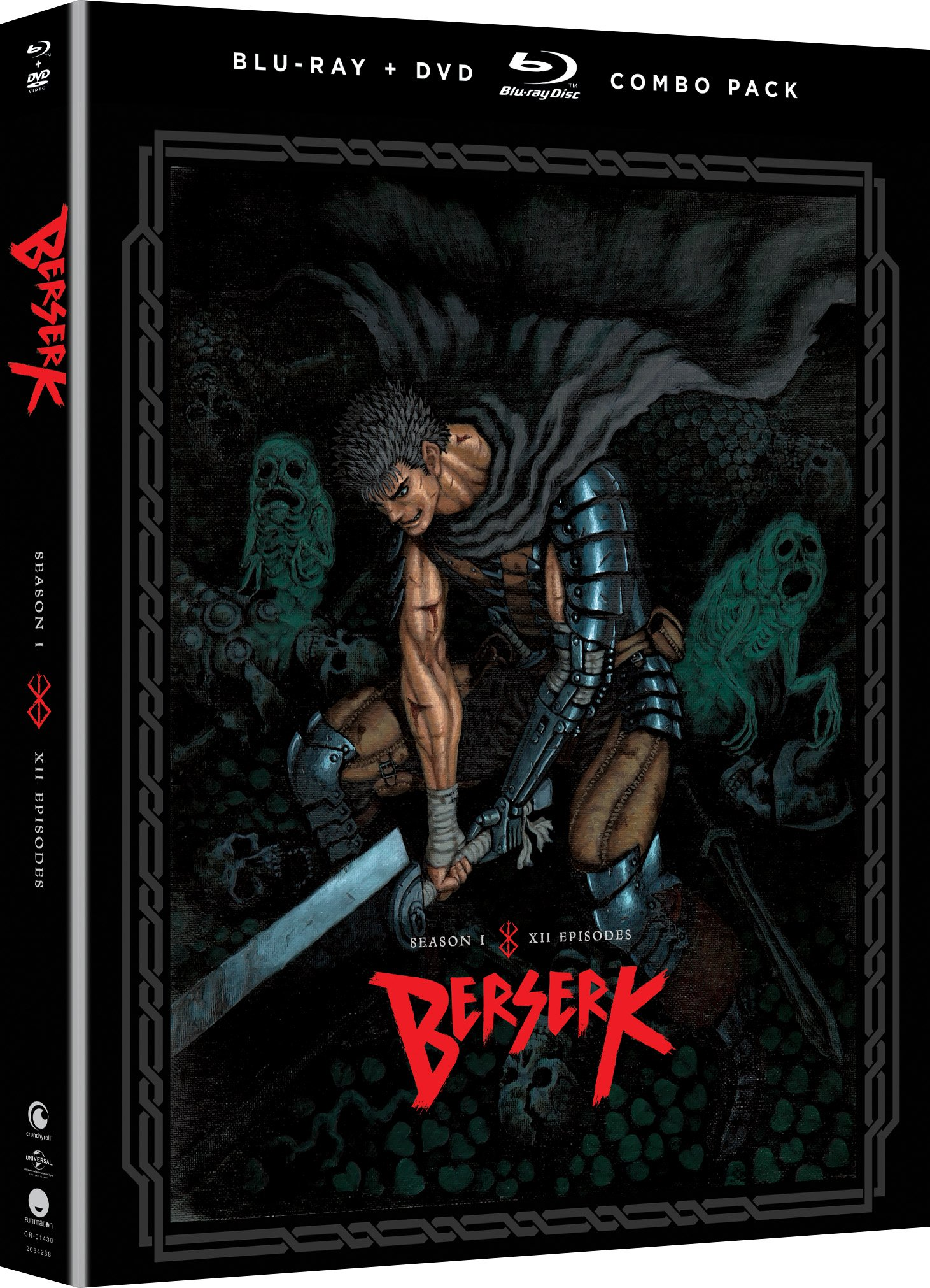 Blu-ray : Berserk: Season One (With DVD, Boxed Set, 4 Disc)