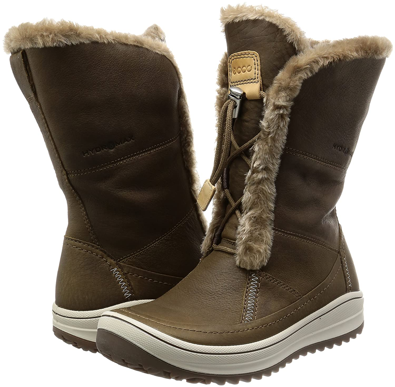 ECCO Women's Trace Tie Hydromax Snow Boot B00RYBI8B6 40 EU/9-9.5 M US|Birch