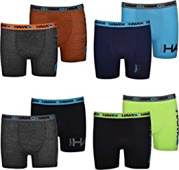 0ed0a41f4f Tony Hawk Boys' Boxer Briefs 8-Pack Performance Dri Fusion Tech Compression  No Fly