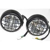 AMR Racing ATV Headlight Eye Graphics Decal Cover Compatible with Yamaha Banshee 350 1987-2005 Nightmare