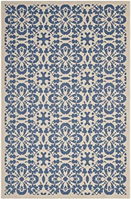 Modway R-1142C-810 Ariana Area Rug, 8X10, Blue and Beige
