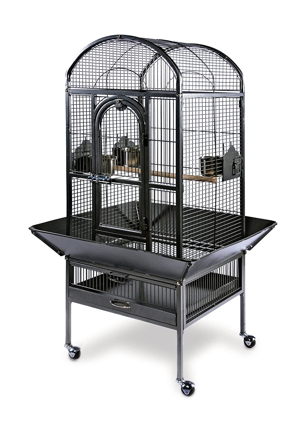 Black Hammertone Prevue Pet Products Small Dometop Bird Cage, Black Hammertone