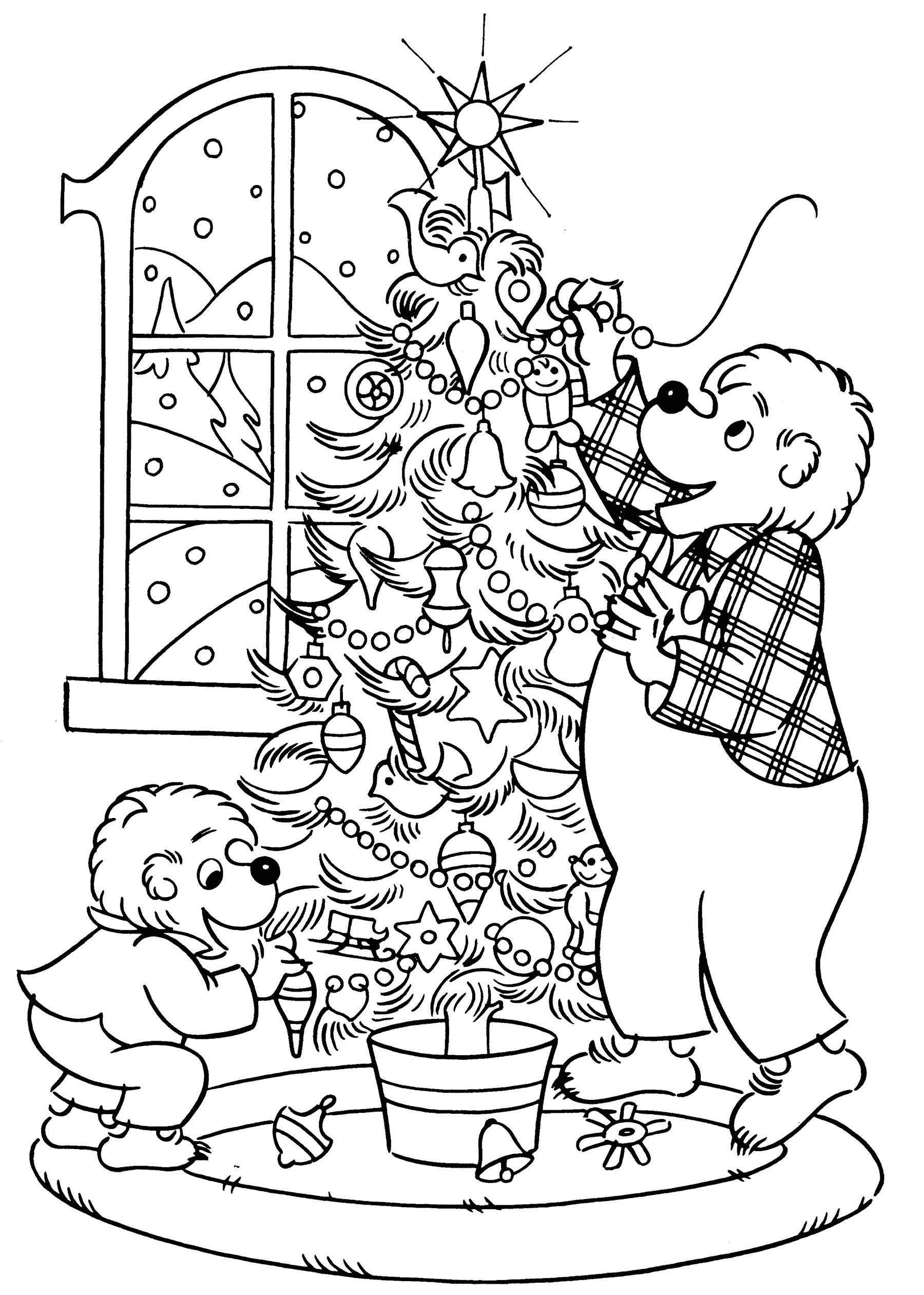 - The Berenstain Bears' Christmas Coloring And Activity Book (Dovor