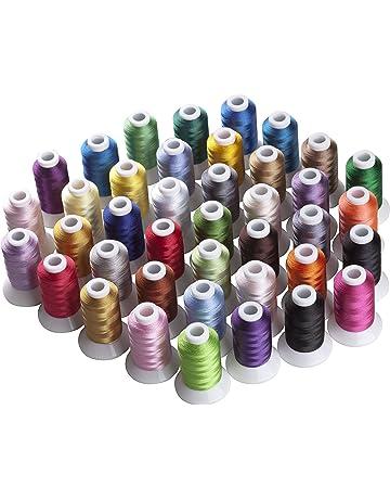 Lote de 40 bobinas de 500 m poliéster de Simthread, de distintos colores