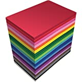 100 Pack EVA Foam Sheets, 5.5 x 8.5 Inch, Assorted Colors (20 Colors), 2mm Thick, by Better Office Products, for Arts and Cra