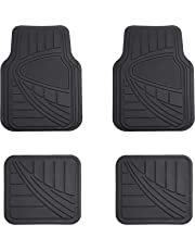 AmazonBasics Alfombrilla para coche, 4 piezas, negro