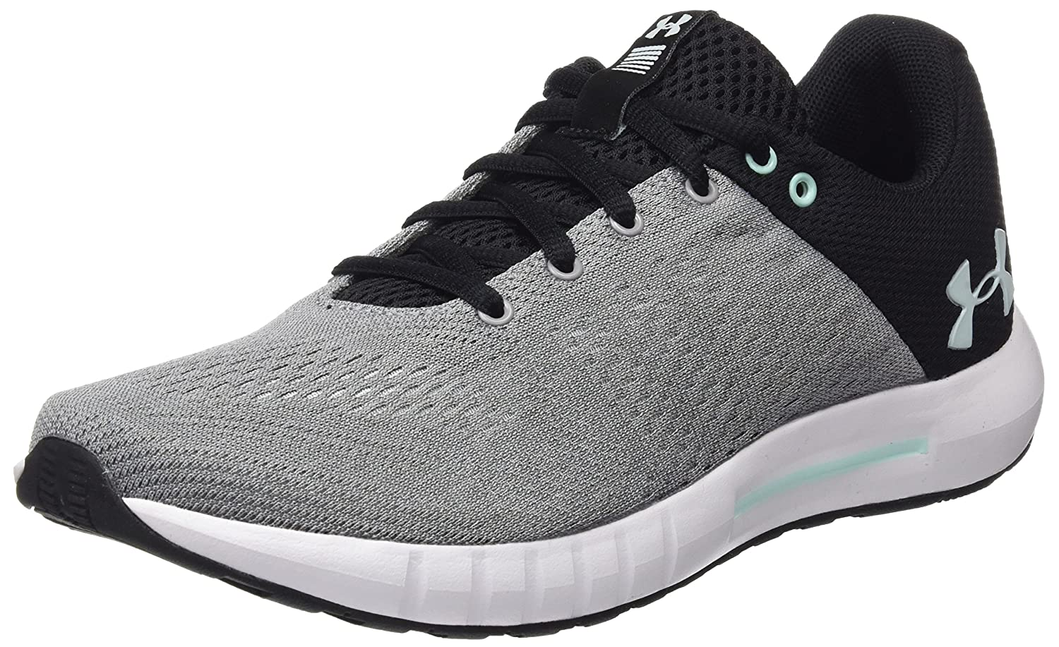 Under Armour Women's Micro G Pursuit Sneaker B071NT76G1 12 M US|Steel (106)/Rhino Gray