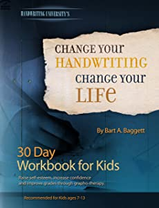 Change Your Handwriting, Change Your Life - 30 Day Workbook Journal for Kids
