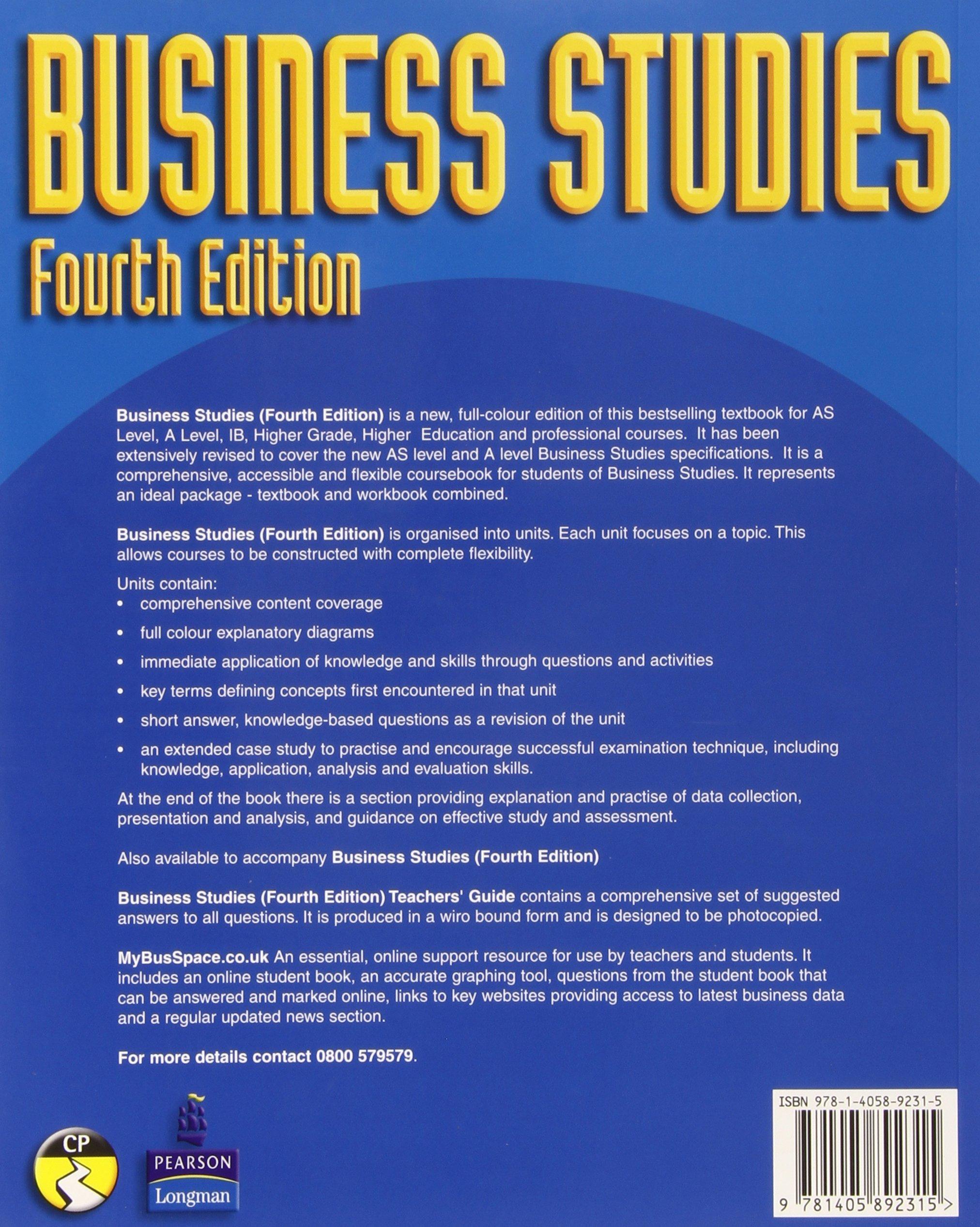 Business Studies Textbook Pdf
