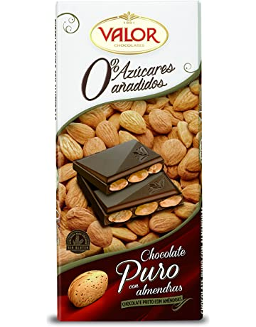 Chocolates Valor Chocolate Puro con Almendras sin Azúcar - 150 g