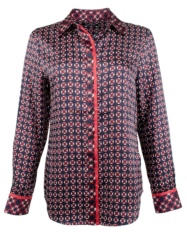 Multi Lauren Ralph Lauren Women's Petite Tile Print ButtonDown Shirt