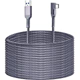 Compatible for Oculus Quest 2 Link Cable 20FT, Kuject Nylon Braided USB 3.0 Type A to C 5Gbps VR Headset Charging Cable for O