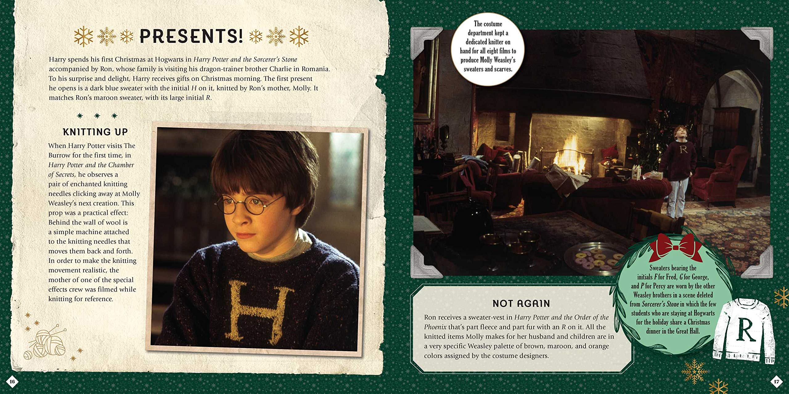 Harry Potter. Christmas. A Movie Scrapbook: Magical Movie ...