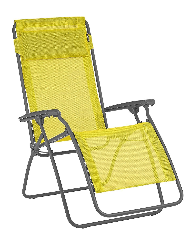 Lafuma Relax-Liegestuhl, Klappbar und verstellbar, R Clip, Batyline, gelb