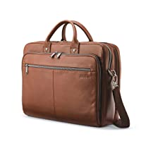 Classic Leather Toploader Briefcase, Cognac, One Size