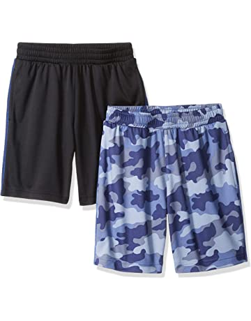 df89e64db9 Amazon Essentials Boys' 2-Pack Mesh Short