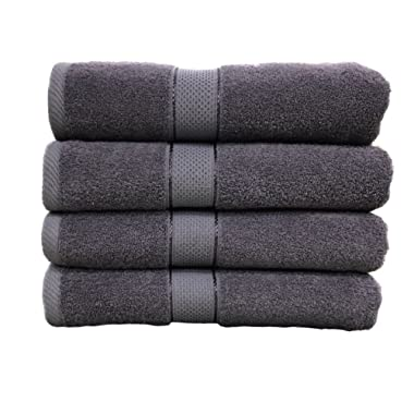 Ariv Collection Premium Bamboo Cotton Bath Towels - Natural, Ultra Absorbent and Eco-Friendly 30  X 52  (Grey)