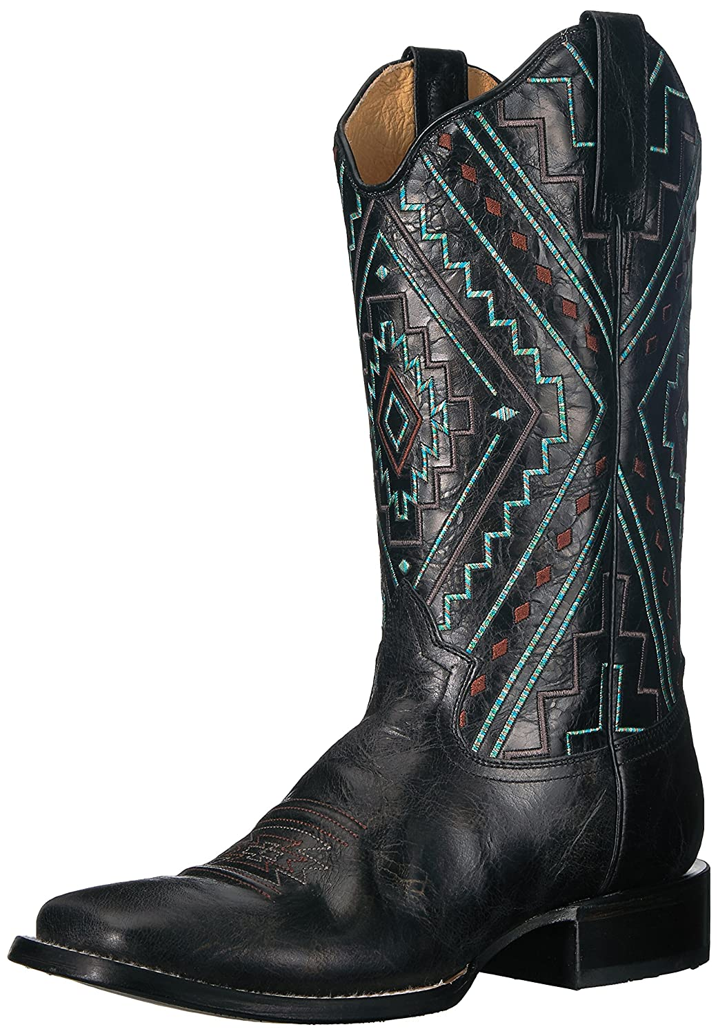 Roper Women's Native Western Boot B076TCBDVY 7.5 B(M) US|Black