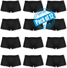 Andrew Scott 12 Pack Cotton Boxer Brief Trunks