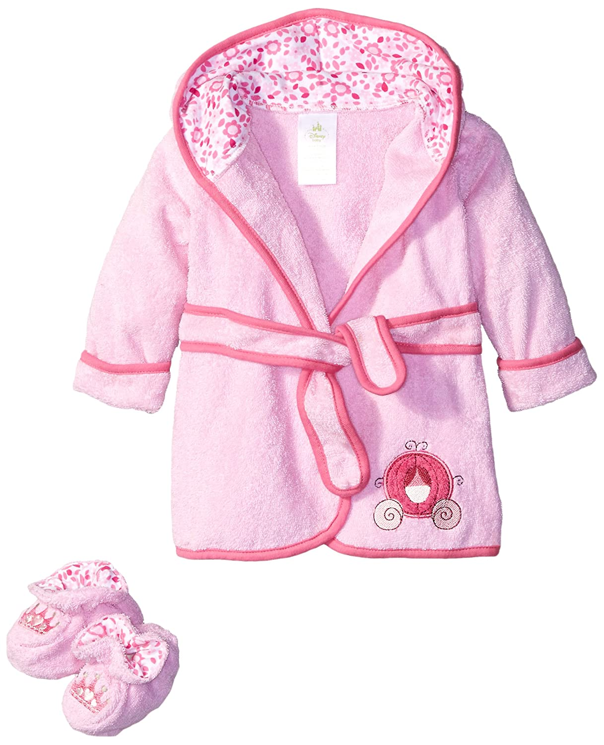 Disney terry bath robe pink baby princess baby jpg 1217x1500 Toddler terry  cloth robes 050813657