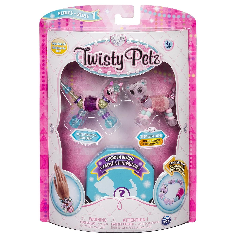 Twisty Petz - 3-Pack - - - Butterscotch Unicorn, Berry Tales Cheetah and Surprise Collectible Bracelet Set for Kids 4214c4