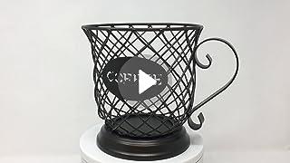Kup Keeper Coffee Espresso Pod Holder Coffee Mug Storage Basket By Boston Warehouse