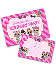 Lol Doll Party Invitations Pack & Envelopes (WRITE ON) Click customize for prices