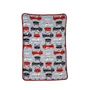 Carter's Toddler Printed Coral Fleece Blanket, Fire Truck