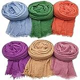 Axe Sickle 6PCS Scarf Wrap Shawl Cotton Hemp Soft Outdoor Beach for All Season Wrap Women Wrap Shawl Sunscreen Stylish Scarf