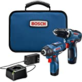 BOSCH GXL12V-220B22 12V Max 2-Tool Brushless Combo Kit with 3/8 In. Drill/Driver, 1/4 In. Hex Impact Driver and (2) 2.0 Ah Ba