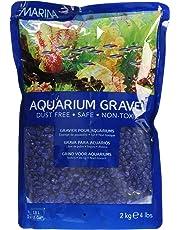 Marina 12484 Blue Decorative Aquarium Gravel, 2kg, 4.4-Pound