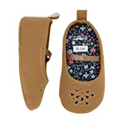 Carter's Baby Girl Soft Sole Brown Perferated Mary Jane Dress Shoe, 6-9 Months Flat