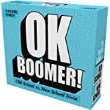 Games Adults Play OK Boomer - The Old School vs. New School Trivia Game, Blue Sky