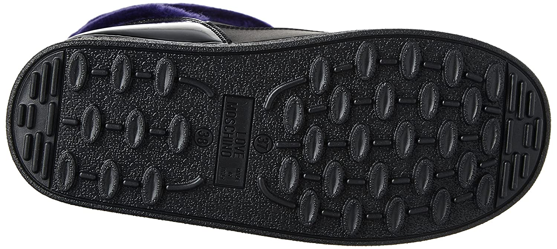 Love Moschino Women's JA24232G04JK200C Fashion Boot B071F59X67 35-36 M EU (5-6 US)|Black/Purple