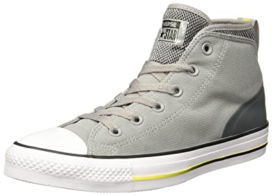 Converse Unisex Chuck Taylor All Star Syde Street Mid Grey Sneaker - 8.5  Men - 10.5