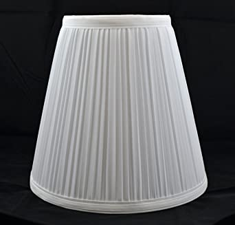urbanest off white mushroom pleated hardback lamp shade 5x9x85 inch spider - Lamp Shades For Table Lamps