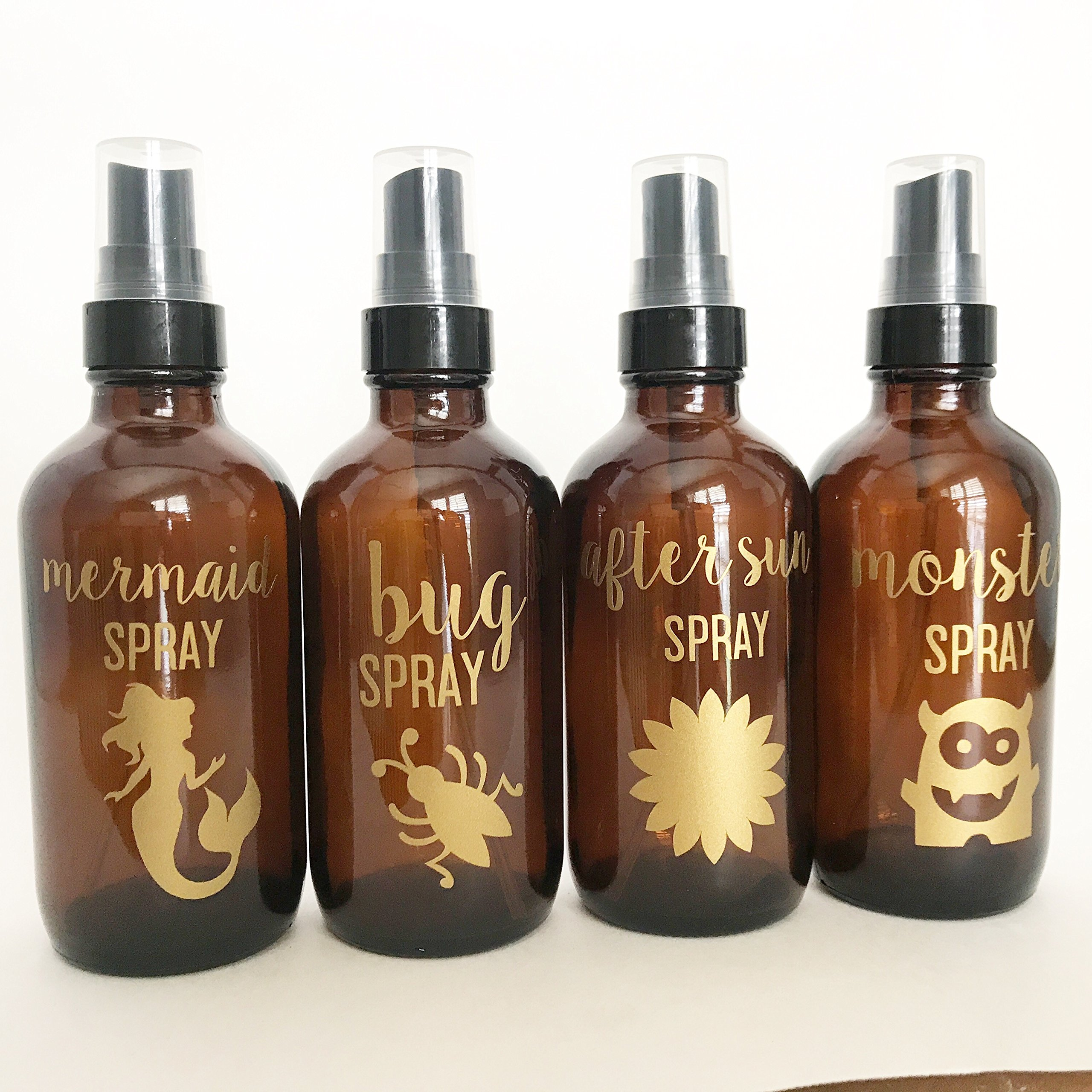 Essential oil labels for spray bottles//bottes not included//mermaid spray//bug spray//monster spray//after sun spray