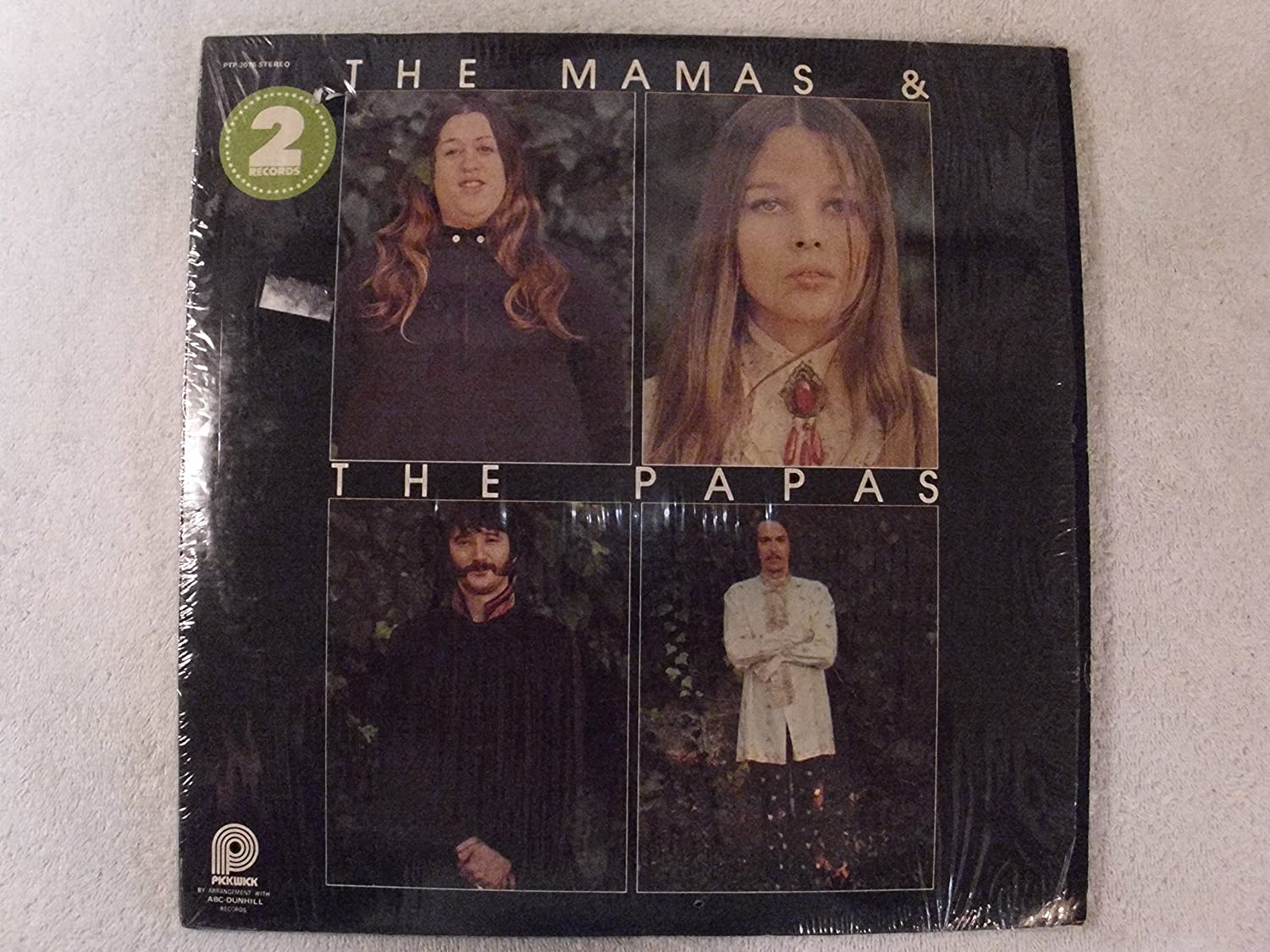 Two Records Of The Mamas' & Papas' Greatest Hits LP